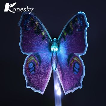 3pcs Multi-Color Solar Stake Light Solar LED Butterfly Dragonfly Hummingbird Stake Mixed Light for Garden Decorations