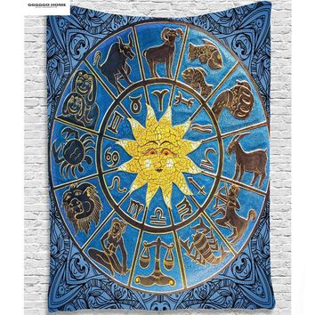 GGGGGO HOME,constellation style mandala Wall Tapestries,180cmx145cm SIZE  tapestry wall hanging for living home decor
