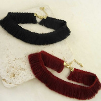 Fringe Tassel Choker Necklace
