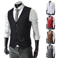 Slim Fit Men Fashion Vest