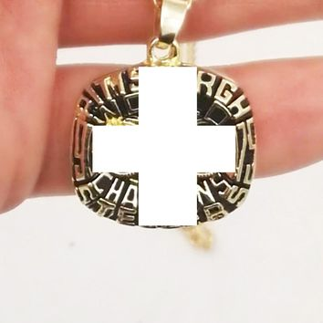 Drop Shipping Good Quality  For 1975 Pittsburgh Steeler necklace  Championship Ring for Fans
