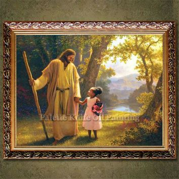 Jesus Christ Jesus Canvas Posters and Prints Wall Art Pictures for living room Home Decor cuadros decoracion Oil painting 33