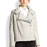 J Brand - Pallenberg Oversized Cotton & Wool Moto Jacket - Saks Fifth Avenue Mobile