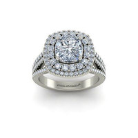 AMAZING 2.26CT WHITE ROUND 925 WHITE STERLING SILVER ENGAGEMENT RING FOR HER