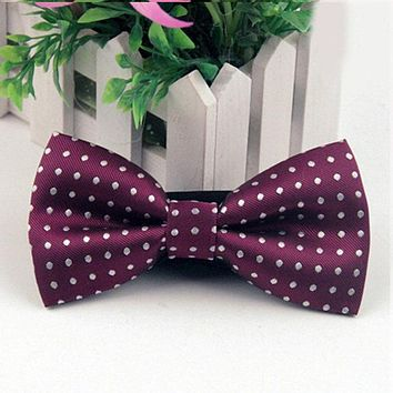 Men's Suits Polyester Bow Tie Business Formal Bow Tie Polka Dots Party Bowtie Bowknots Cravats