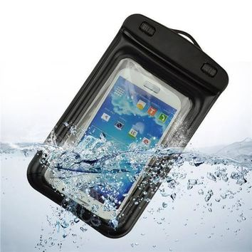 Tuzech Two Buttoned Waterproof Pouch For all Smartphones (Upto 6.6 Inches)