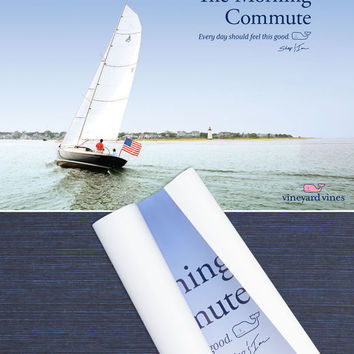 Whale Shop: The Morning Commute Poster - Vineyard Vines