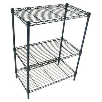 Adjustable 3-Tier Wire Shelving - Black - Room Essentials™