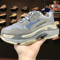 Buy Balenciaga Triple-S Sneaker 2018 Reissue cool grey blue shoe