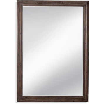 "Bassett Mirror Remington Leaner Mirror Distressed Wood 60"" x 83"" - M4092BEC"