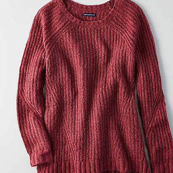 AEO Ahh-mazingly Soft Jegging Sweater, Burgundy