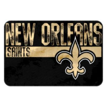 New Orleans Saints NFL Worn Out Bath Mat