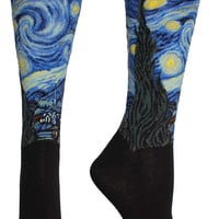 The Starry Night Masterpiece Series Socks