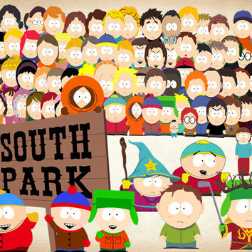 41 South Park Clipart PNG Digital Graphic Image South Park Clip Art Scrapbook eric kenny klye Invitations INSTANT DOWNLOAD printable 300 dpi