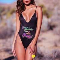 "Solkissed California - Black One Piece ""Vamos a la Playa"""