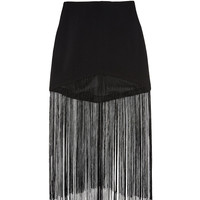 Gloss Fringe Skirt by Line & Dot | WEST L.A. Boutique
