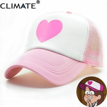 ac9ec12b5af Trendy Winter Jacket CLIMATE Girl Women Pink Mesh Summer Trucker. Item  Type  Baseball Caps ...