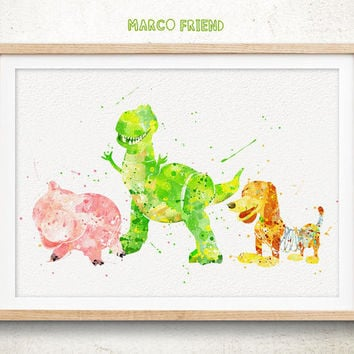 Toy Story Disney - Watercolor, Art Print, Home Wall decor, Watercolor Print, Disney Poster