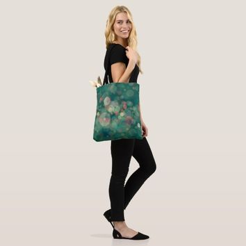 circles green tote bag