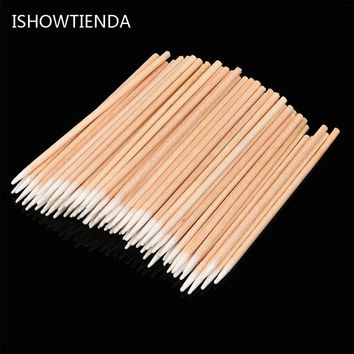 ISHOWTIENDA 2017 100PCS Tattoo Accesories Micro Brushes Swab Lint Free Tattoo Permanent Supplies Brush Set Dropshipping 38