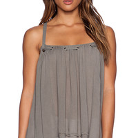 Free People Waiting For You Tank in Olive