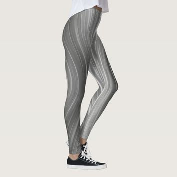 Gray Mist Futuristic Driving Dreams Leggings