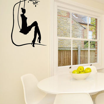 Wall Vinyl Decal Sticker Woman Beauty Saloon Art Design Room Nice Picture Decor Hall Wall Chu1000
