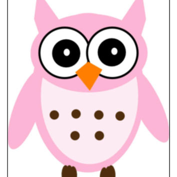 Instant Download, Owl Cross Stitch, PDF Pattern, Cross Stitch Pattern, Pink Owl, Owl Pattern