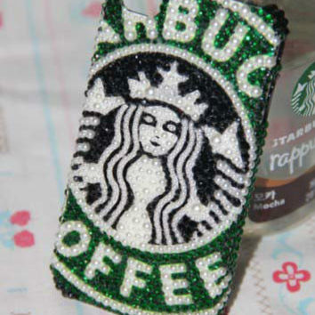 Bling iPhone 4 case iPhone 4S case iPhone 5 case Iphone cover cute iphone 4 cover in handmade-starbuck