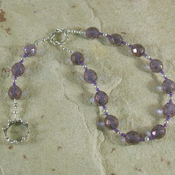 Juno Pocket Prayer Beads: Roman Goddess of Marriage, Guardian of the Community, Queen of the Gods