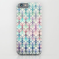 Mermaid's Braids - a colored pencil pattern iPhone & iPod Case by Micklyn