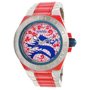 Invicta 11547 Men's Subaqua Sport Artist Dragon Red White Dial Plastic and Stainless Steel Watch