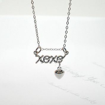 xoxo Necklace, xoxo Jewelry, Sterling Silver Necklace, Love Necklace, Gift for Her, Gift Ideas for Best Friend, Birthday Gift, Heart, xoxo