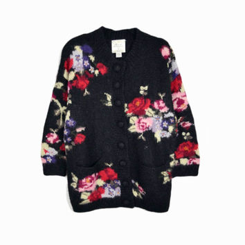 Vintage 90s Oversized Floral Granny Cardigan by Express