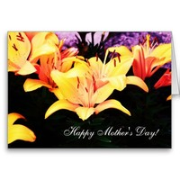 Yellow Iris Flowers Mother's Day Card