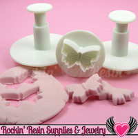 3 pc BUTTERFLY Embossing Plunger Cutters