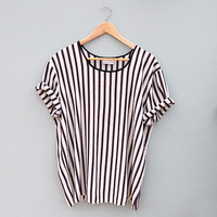 Vintage Striped Oversize T-Shirt