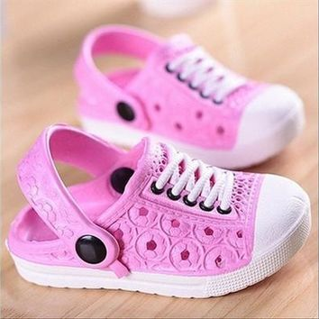 Cute Summer Kids Unisex Beach Slippers Boys Girls Sandals Clogs Shoes Cozy Breathable 20-34# [9305890951]