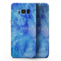 Washed Ocean Blue 402 Absorbed Watercolor Texture - Samsung Galaxy S8 Full-Body Skin Kit