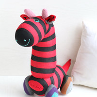 Handmade  Personalized   Giraffe  for kids  Stuffed Animal  baby  Plush Toy  sock doll  Ready to Ship