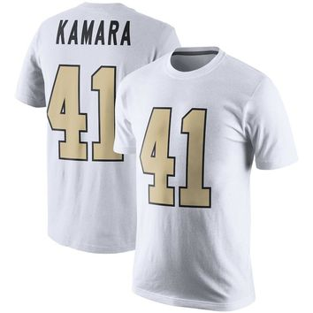 VZ VARE ZANE Official Men's New Orleans Alvin Kamara T Shirt Jerseys Saints Color Rush 2.0 Name & Number Jerseys T-Shirt