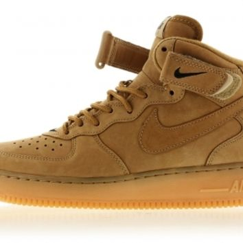 715889-200 Flax/Flax-Outdoor Green Air Force 1 Mid Premium Quickstrike Titolo