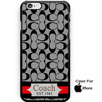 COACH Hot Fashion Gray Stripes On Hard Plastic Case For iPhone 6s, 6s plus, 7