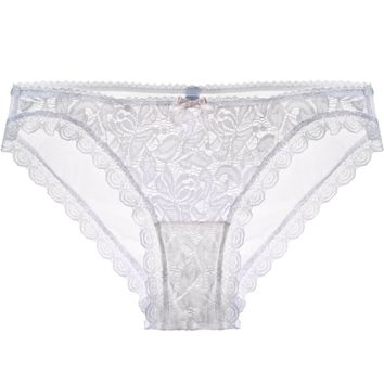 Camilla Sweet Lace Panty in White Rose