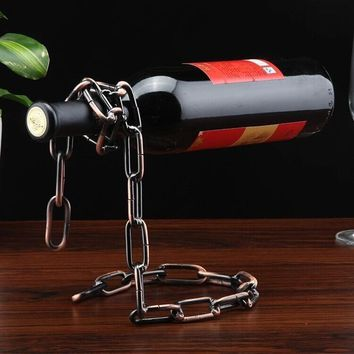1 pc 6 styles Wine Racks Handmade Plating Process Support Home Kitchen Bar Accessories Practical Wine Holder