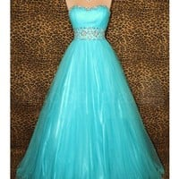 WowDresses — Ball Gown Sweetheart Floor Length Tulle Prom Dress