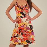 Aller Simplement 100 % Cotton Multicolor Flower Print Dress - Aller Simplement Summer Apparel for Her - Modnique.com