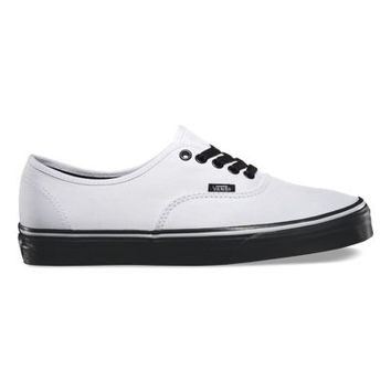Vans Black Sole Authentic (true white)