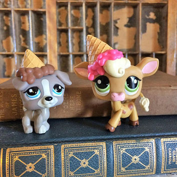 Littlest Pet Shop, LPS, Lps on the Go, Littlest Pet Pairs, lps Set, LPS Birthday Set, Littlest Pet Cow, Littlest Pet Dog, LPS Cow, lps Dog