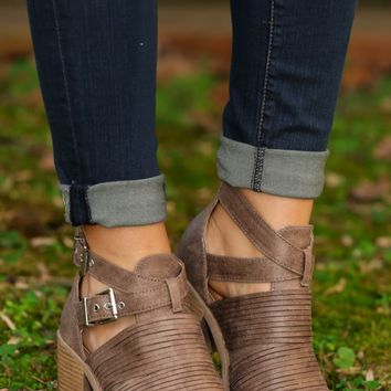 Going Rogue Bootie-Taupe